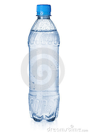 Small bottle of soda water
