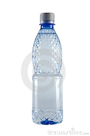 Small bottle of water Stock Photo