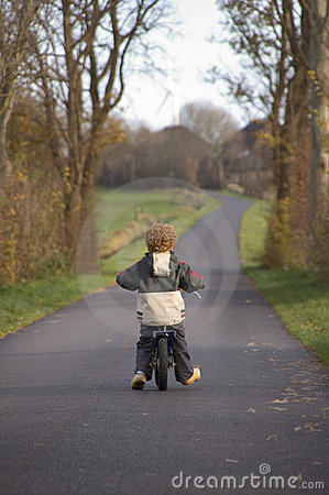 Small Boy Biking