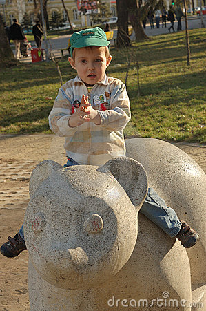 Small boy in park