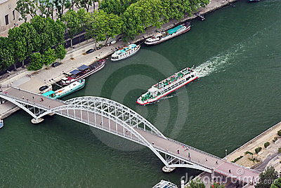 Small bridge over Seine
