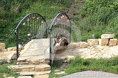 Small bridge to the newlyweds