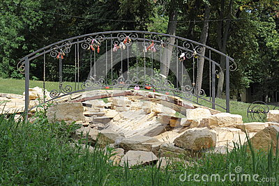 Small bridge to the newlyweds