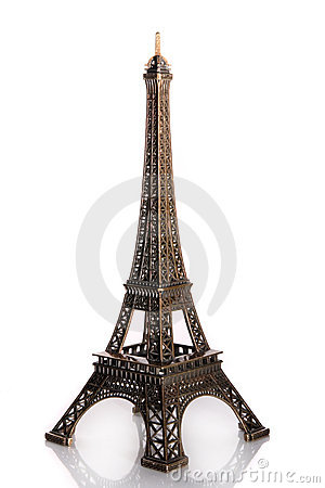 Small bronze of Eiffel tower figurine