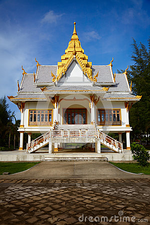 Small Buddhist temple. Surin, Thailand