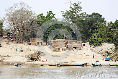 Small Burmese Village Editorial Stock Photo