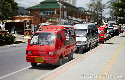 Small buses taxis in Thailand