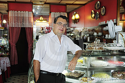 Small business: owner of a cafe