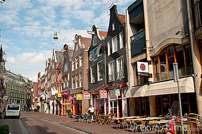 Small cafe at Amsterdam street Editorial Image
