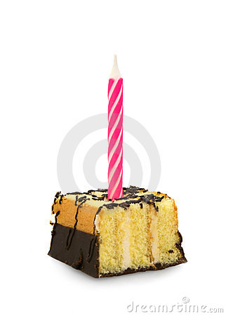 Small cake with candle