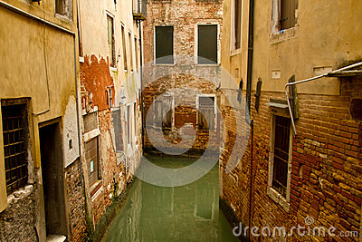 Small canal and venetian architecture