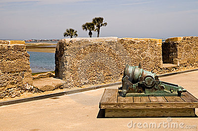 Small cannon on fort wall