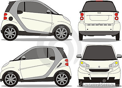 Small car vector art
