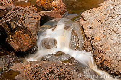 Small Cascade in a Rocky Canyon