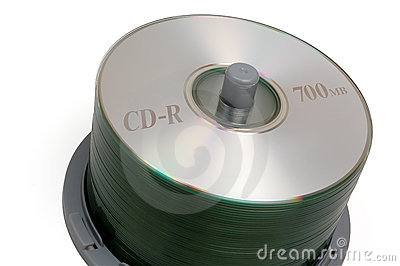 Small CD stack (with clipping path)