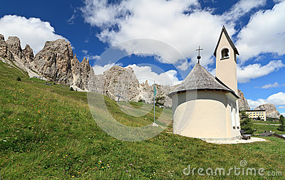 Small chapel in Dolomites