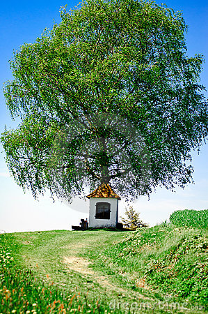 Small Chapel with Tree