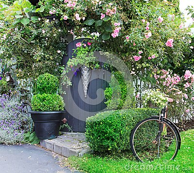 Free Small Charming Garden Gate. Royalty Free Stock Image - 25853806