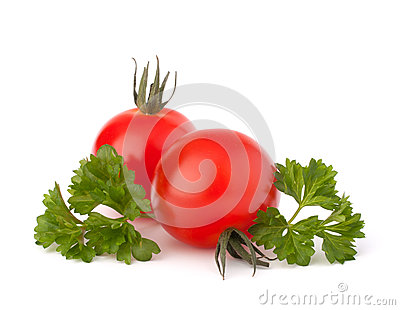 Small cherry tomato and parsley spice