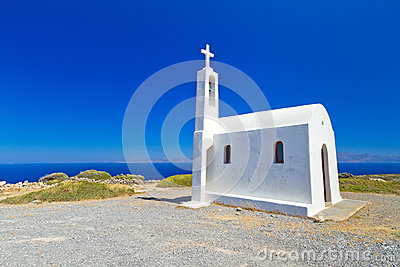 Small church on the coast of Crete