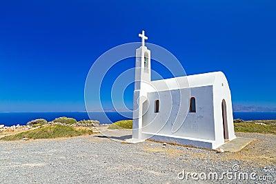 Small church on the coast of Crete