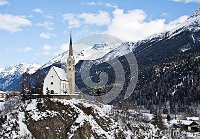 Small church in Scuol