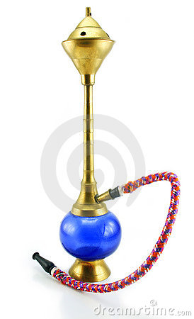 Small colored hookah (tobacco water pipe)