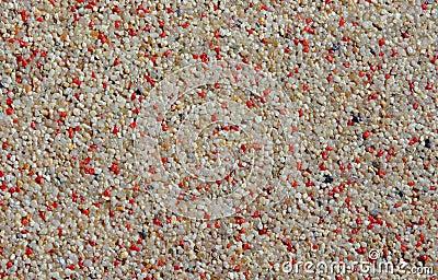 Small colored pebbles
