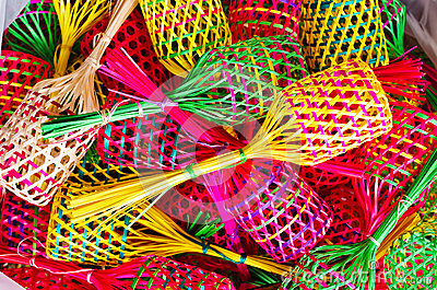Small colorful baskets