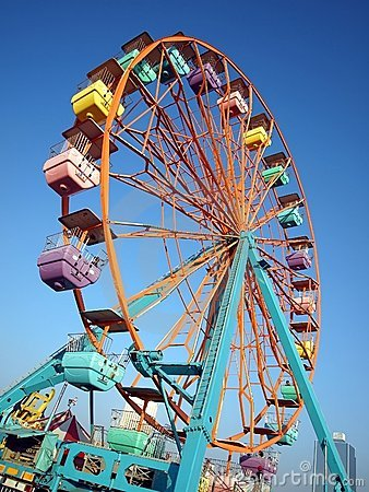 Small Colorful Ferris Wheel
