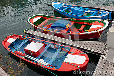 Small Colorful Fishing Boats