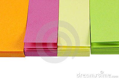 Small colorful post-it notes