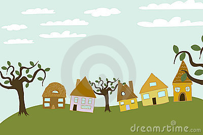 Small Community On The Hill