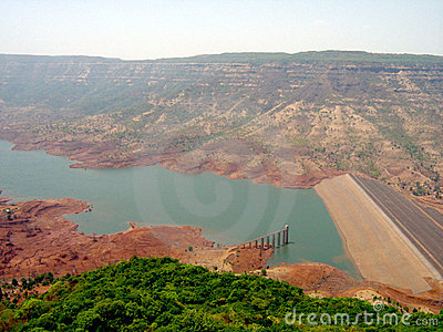 Small Dam in a Valley in India