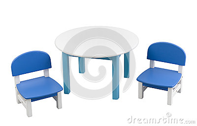 Small desk and chairs