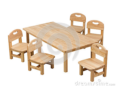 Small desk and chairs for kids