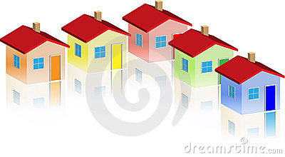 Small different houses