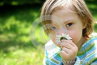 Small dreamy girl