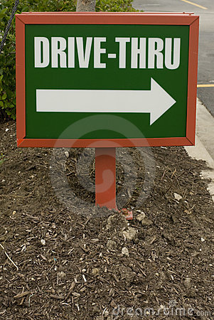 Small drive-thru sign