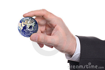 Small earth in a hand 2