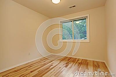 Small empty bedroom interior