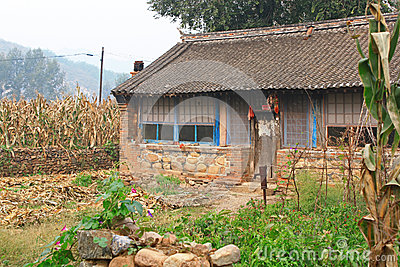 Small farm house in China