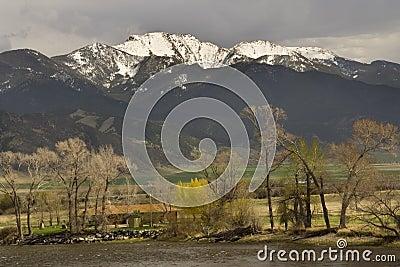 Small Farm Snow Mountains Montana