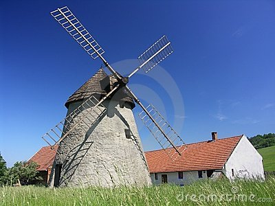 Small farm with windmill