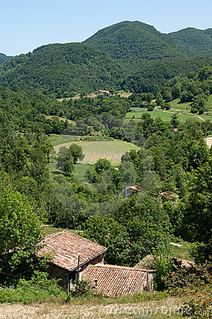 Small farms in the Pyrenees