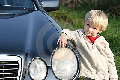 Small fellow with daddy s car