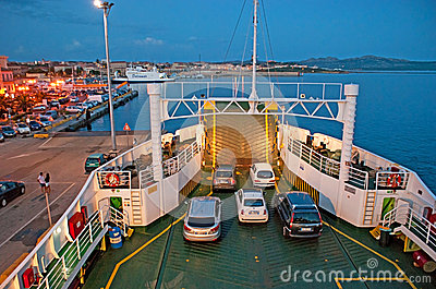 The small ferry Editorial Stock Image