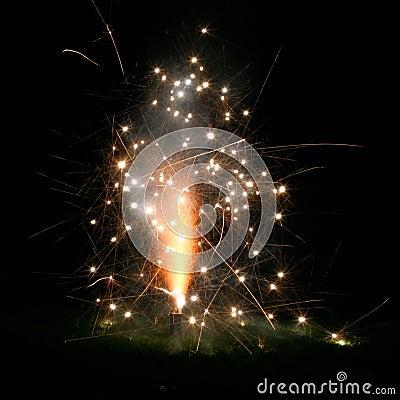 Small Fireworks Stock Photo