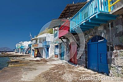 Small fishermen village in Greece