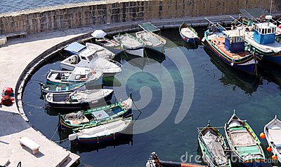 Small fishing marina